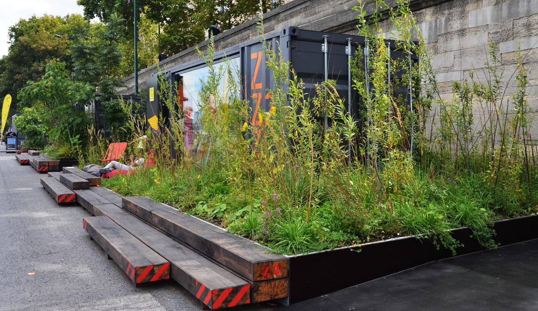 Jardin intime, Berge de Seine, 2014